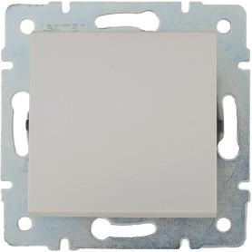 Выключатель встраиваемый Lexman Виктория 1 клавиша, цвет жемчужно-белый матовый