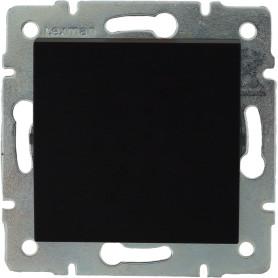 Выключатель встраиваемый Lexman Виктория 1 клавиша, цвет черный бархат матовый