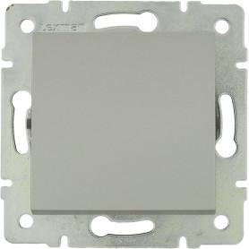 Выключатель встраиваемый Lexman Виктория 1 клавиша, цвет серебро матовый