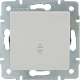 Выключатель проходной встраиваемый Lexman Виктория 1 клавиша, цвет белый