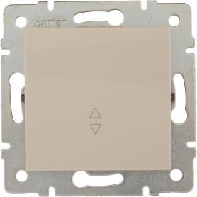 Выключатель проходной встраиваемый Lexman Виктория 1 клавиша, цвет бежевый