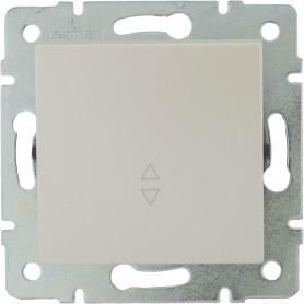 Выключатель проходной встраиваемый Lexman Виктория 1 клавиша, цвет жемчужно-белый матовый