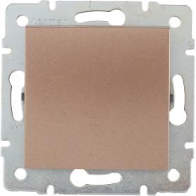 Выключатель проходной встраиваемый Lexman Виктория 1 клавиша, цвет бронза матовый
