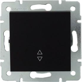 Выключатель проходной встраиваемый Lexman Виктория 1 клавиша, цвет черный бархат матовый