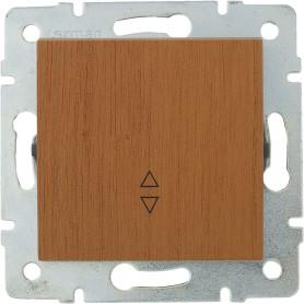 Выключатель проходной встраиваемый Lexman Виктория 1 клавиша, цвет дуб классический матовый
