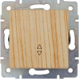 Выключатель проходной встраиваемый Lexman Виктория 1 клавиша, цвет дуб беленый матовый