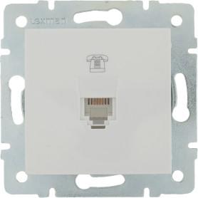 Телефонная розетка встраиваемая Lexman Виктория RJ11, цвет белый