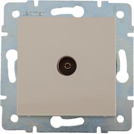 ТВ-розетка проходная встраиваемая Lexman Виктория шлейф, цвет бежевый