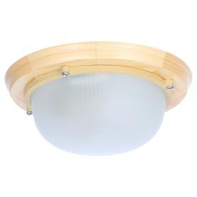 Светильник для сауны круглый 1xE27x60 Вт, цвет сосна, IP65