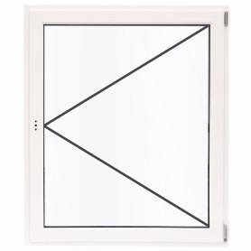 Окно ПВХ одностворчатое 120х100 см поворотное правое одно стекло