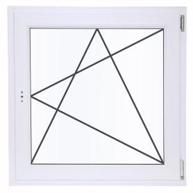 Окно ПВХ одностворчатое 90х90 см поворотно-откидное правое однокамерное