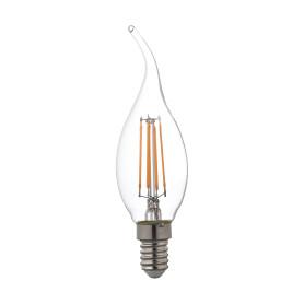 Лампа светодиодная Lexman «Свеча на ветру», E14, 4.5 Вт, 470 Лм, свет тёплый белый, прозрачная колба