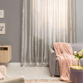 Тюль на ленте 300х280 см микровуаль цвет серебристый