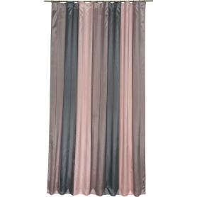 Штора на ленте «Моса» 200х280 см цвет розово-серый