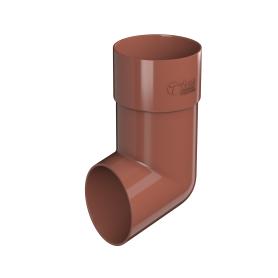 Отвод для трубы 82 мм цвет красный