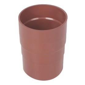 Муфта для водосточной трубы 82 мм цвет красный