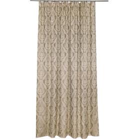 Штора на ленте «Монограм» 200х280 см цвет серо-коричневый