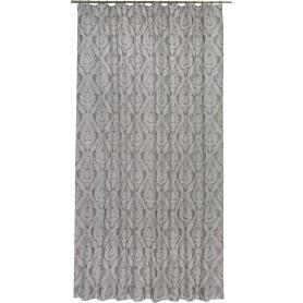 Штора на ленте «Монограм» 200х280 см цвет серый