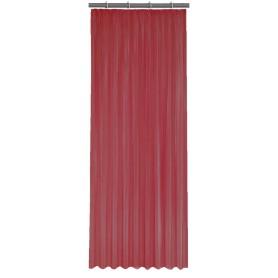 Тюль на ленте 140x260 см органза цвет бордовый