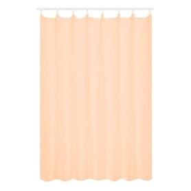 Тюль на ленте 300х280 см вуаль цвет оранжевый