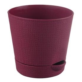 Горшок цветочный Тек.А.Тек Партер ø15 h13.5 см v1.4 л пластик бордовый