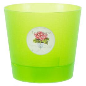 Горшок цветочный для орхидей ø15 h13.5 см v1.4 л пластик светло-зелёный