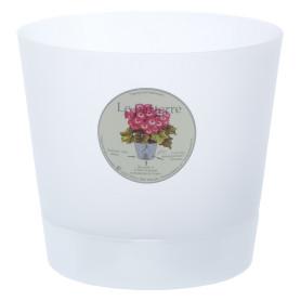 Горшок цветочный «Орхидея» D15, 1, 4л., пластик, Белый, Бесцветный / прозрачный