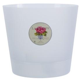 Горшок цветочный «Орхидея» D19, 2, 8л., пластик, Белый, Бесцветный / прозрачный