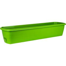 Ящик балконный Жардин 60x20x15.5 см v18 л пластик зелёный