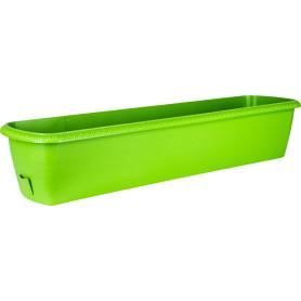 Ящик балконный Жардин 80x20x15.5 см v24 л пластик зелёный