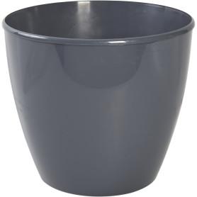 Горшок цветочный «Колорс» D15, 21л., пластик, Серый / Серебристый