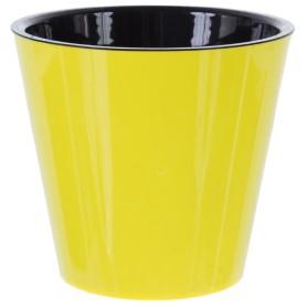 Горшок цветочный Ingreen Фиджи ø16 h14.5 см v1.6 л пластик жёлтый