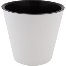 Горшок цветочный «Фиджи» D23, 5л., пластик, Белый