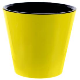 Горшок цветочный «Фиджи» D33, 16л., пластик, Жёлтый / золотой