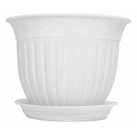 Кашпо Виноград ø20 h15.5 см v1.6 л пластик белый