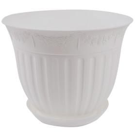 Кашпо цветочное «Виноград», D30, 30, 6л. пластик, Белый