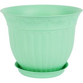 Кашпо цветочное «Виноград», D30, 6л. пластик, Зеленый