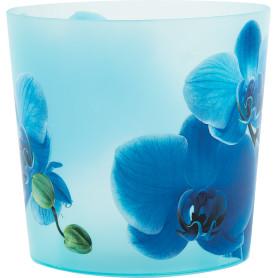 Кашпо цветочное «Деко», D16, 2, 4л. пластик, Синий
