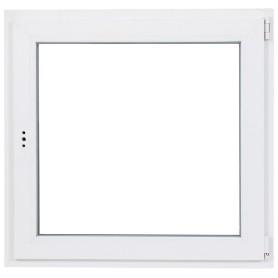Окно ПВХ одностворчатое 90(87)х90 см поворотно-откидное левое двухкамерное