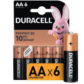Батарейка алкалиновая Duracell AA/LR6 6 шт
