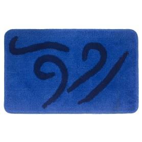 Коврик для ванной комнаты «Волна» 50х80 см цвет синий