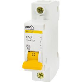Выключатель автоматический IEK Home В А47-29 1 полюс 50 А
