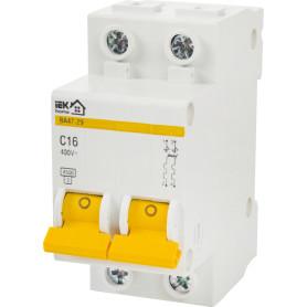 Выключатель автоматический IEK Home В А47-29 2 полюса 16 А