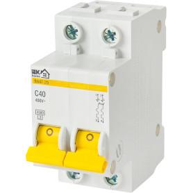 Выключатель автоматический IEK Home В А47-29 2 полюса 40 А