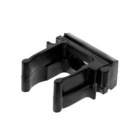 Держатель-клипса для труб Экопласт D16 мм, цвет чёрный, 10 шт.