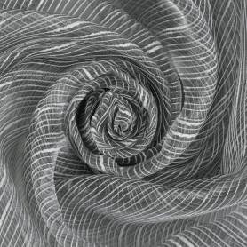 Тюль «Дождик» 1 п/м 280 см органза цвет серый