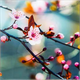 Картина на стекле 30х30 см «Японская вишня»
