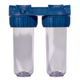 """Сборка из двух магистральных корпусов Аква Про 10SL для холодной воды, резьба 1/2"""""""