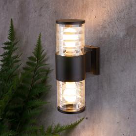 """Настенный светильник уличный Elektrostandard """"Techno"""" 1407, 2xE27x60 Вт, цвет чёрный"""