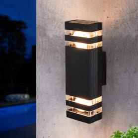 """Настенный светильник уличный Elektrostandard """"Techno"""" 1449, 2xE27x60 Вт, цвет чёрный"""